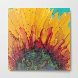 Flaming Flower Metal Print