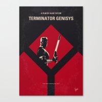 No802-5 My The Terminator 5 minimal movie poster Canvas Print