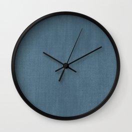 Blue Indigo Denim Wall Clock