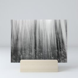 Ghostly forest, black and white Mini Art Print