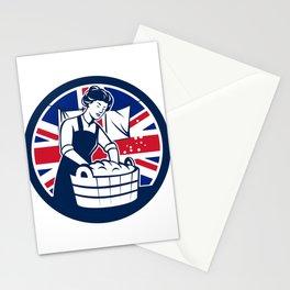 British Laundry Union Jack Flag Icon Stationery Cards