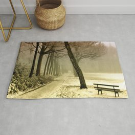 Winter Landscape Seasons Seasonal Snowy Rug