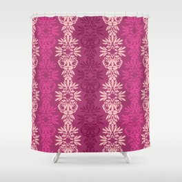 Batik Damask_Pink Shower Curtain