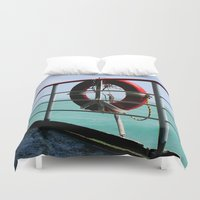 voyage Duvet Covers featuring Voyage by Synergism