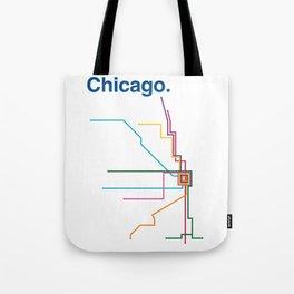 Chicago Transit Map Tote Bag