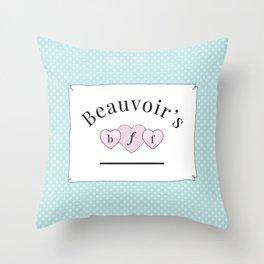 Beauvoir's B.F.F. Throw Pillow