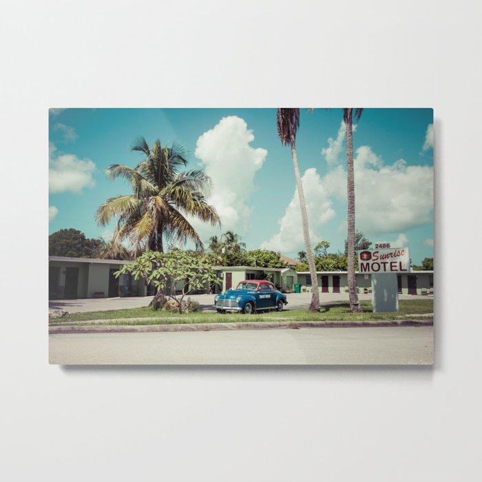 Vintage Motel Metal Print