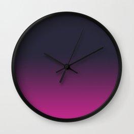 Plum to Fuschia Wall Clock