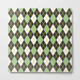 Argyle pattern Metal Print