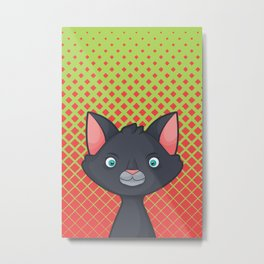 Pop Cats: Vampiro Metal Print