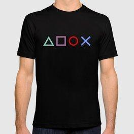Gamer Pattern (color on black) T-shirt