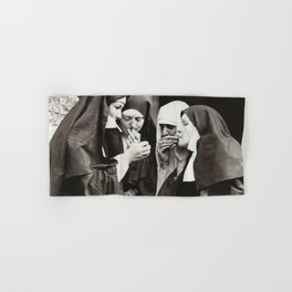 Nuns Smoking Hand & Bath Towel