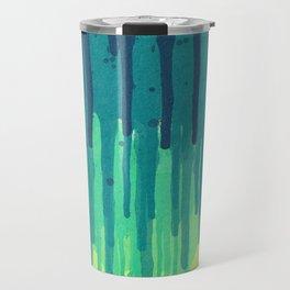 Green Grunge Color Splatter Graffiti Backstreet Wall Background Travel Mug