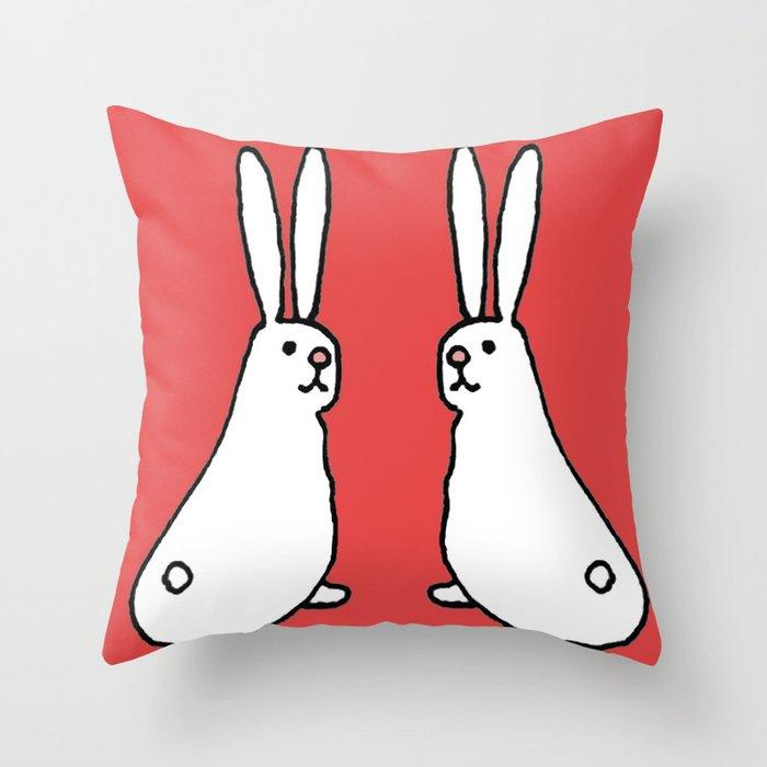 Usagi Rabbits Throw Pillow