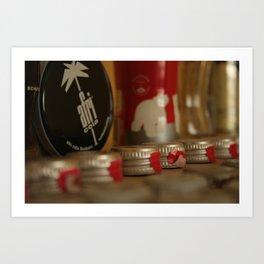 Bottle caps & Afri Cola Art Print