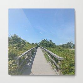 Blue Sky Bridge Metal Print