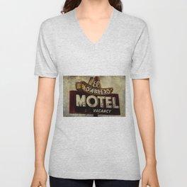 Vintage El Sombrero Motel Sign Unisex V-Neck