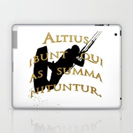 They Will Rise Highest Who Strive High Latin Quote Laptop & iPad Skin