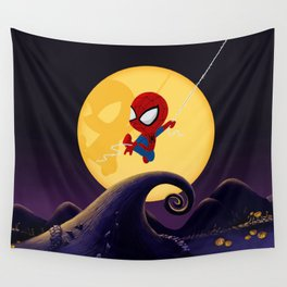 spidey night Wall Tapestry