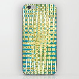 Turquoise Abstract iPhone Skin