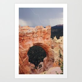 Bryce Canyon Lightning Art Print
