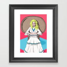 Seventies Dolly  Framed Art Print