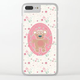 Christmas Tea Party: Candy Cane Mint Clear iPhone Case