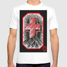 cross of ages MEDIUM Mens Fitted Tee White