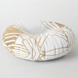 Art Deco design - blonde Floor Pillow