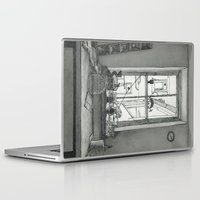window Laptop & iPad Skins featuring Window by v0ff