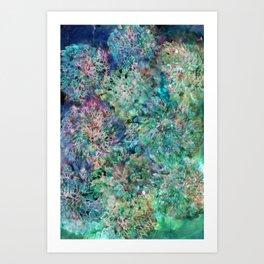 Banksia Cool Blue Art Print