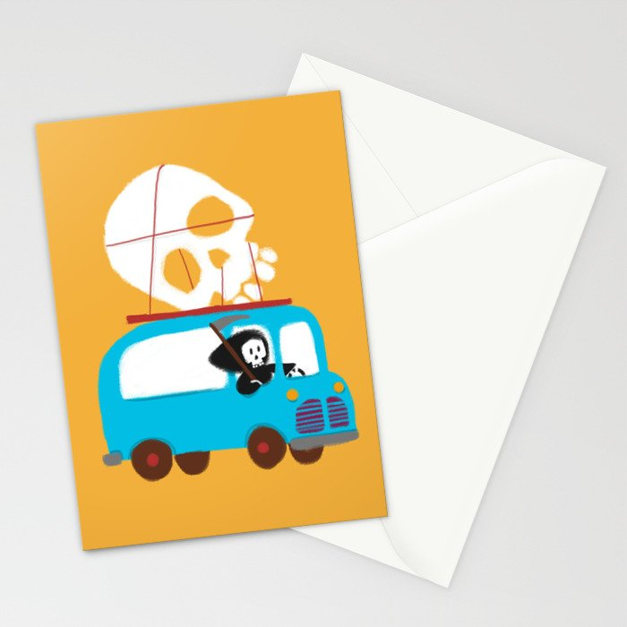 Death on wheels Stationery Cards