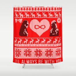 Clexa Christmas Shower Curtain