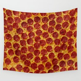 Pizza Pepperoni Wall Tapestry
