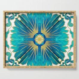 Azulejos - Portuguese Tiles Aqua Serving Tray