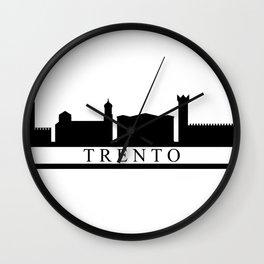 trento skyline Wall Clock