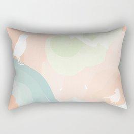 Modern Abstract Birds in Clouds Rectangular Pillow