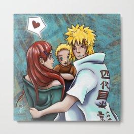 Naruto's Family Metal Print