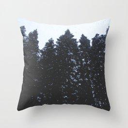 Cold Storm Throw Pillow