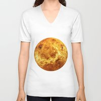 venus V-neck T-shirts featuring Venus by Tobias Bowman