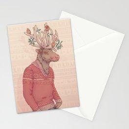 Prancer le Renne Stationery Cards