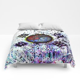 in to the sky, circuit board (south korea) Comforters