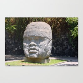 Olmeca head from Veracruz, Mexico Canvas Print