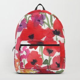 Little Red Poppy Patch Backpack