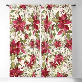 POINSETTIA - FLOWER OF THE HOLY NIGHT Blackout Curtain