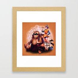 Lucca and Robo Framed Art Print