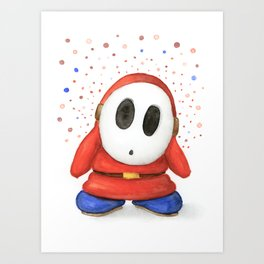 Confused Shy Guy Art Print