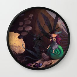 Pixie forest concert Wall Clock