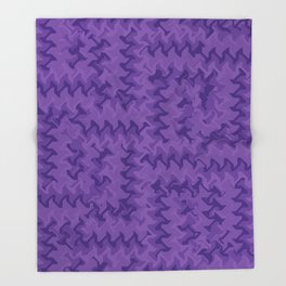Color Purple Throw Blanket
