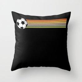 Soccer Ball Retro Throw Pillow